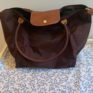 Longchamp large brown tote- AUTHENTIC